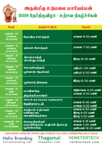 Udumalai mariamman temple time table festival